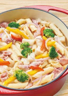【家樂福廚房】一鍋到底蒜香培根義大利麵