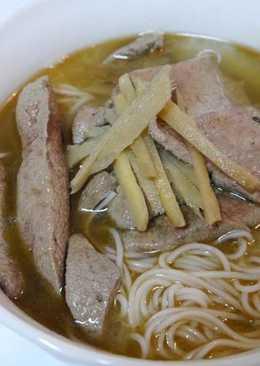 麻油豬肝麵線