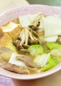 絲瓜粄條湯