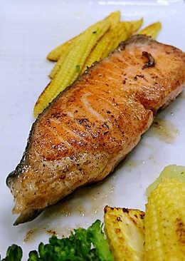 奶油煎鮭魚<真空低溫熟成>