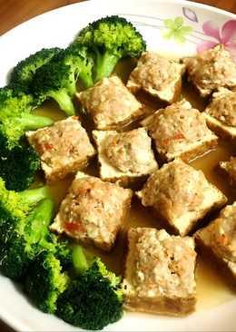 百花豆腐鑲肉