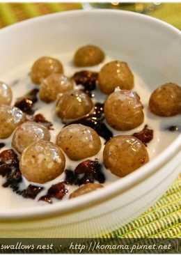 黑q紅豆牛奶甜湯.柯媽媽の植物燕窩