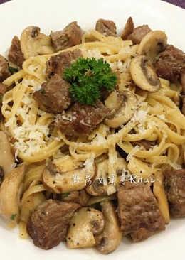 蘑菇牛肉義大利麵