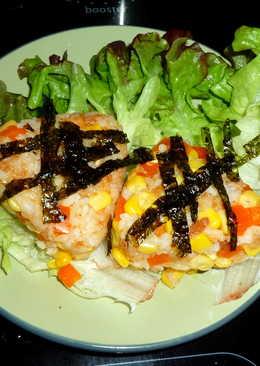 吃剩壽司醋飯大變身-黃金三角飯糰