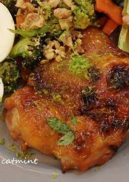 蜂蜜香烤雞腿排 & 烤蔬菜佐檸檬油醋醬