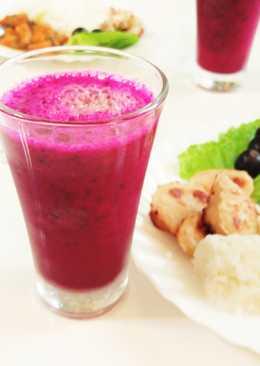 餐桌上的飲品 ~火龍果蘋果果粒汁~