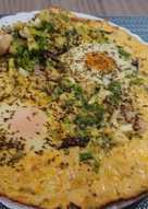 蟹管肉水波蛋煎餅