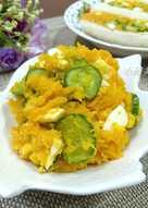 南瓜蛋沙拉❤只用3種食材❤