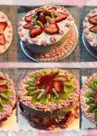 *草莓鮮奶油香草戚風蛋糕*
