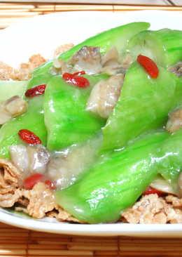 蛤蜊絲瓜燴麥米片