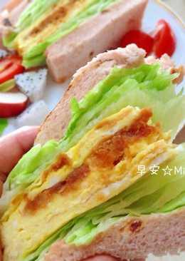肉鬆玉子燒三明治