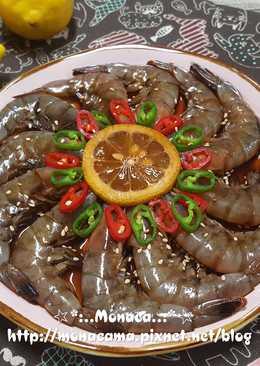 韓式醬油醃蝦간장새우장
