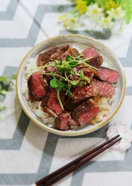 《影音食譜》牛排蓋飯&舒肥牛排套餐