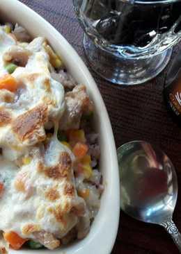 港式料理 ~ 簡易焗烤白汁雞皇飯