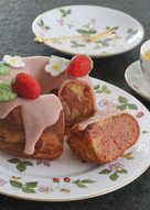 草莓大理石磅蛋糕