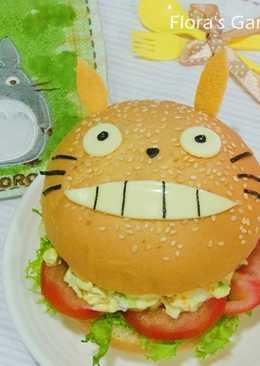 電鍋煮水煮蛋--龍貓漢堡