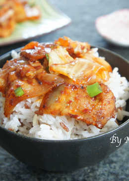 韓式泡菜炒五花肉片