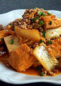 韓式泡菜油豆腐炒肉碎