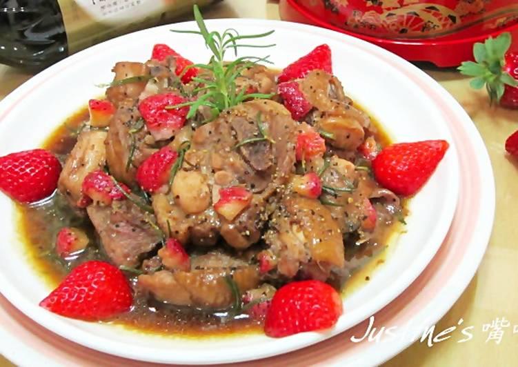 上年菜~迷迭香草莓雞