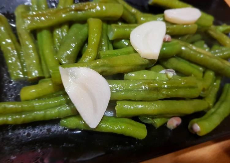●蒜頭♡炒菜豆♡