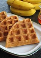 【無油】香蕉酵母格子鬆餅(Waffle)