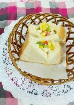 培根白醬蛋沙拉土司包