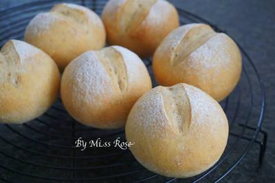 全麥圓麵包