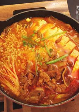 泡菜牛肉豆腐湯