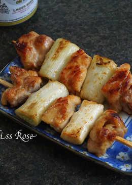 烤味噌大蔥雞肉串