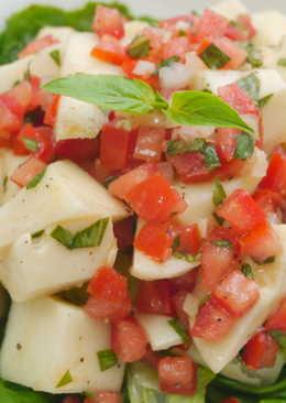 塔香蕃茄涼拌筍