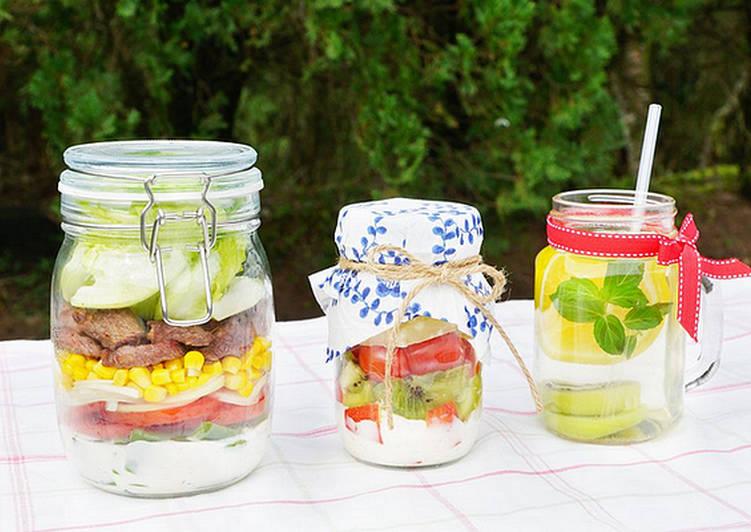 【野餐玻璃罐】五彩牛肉凱薩沙拉