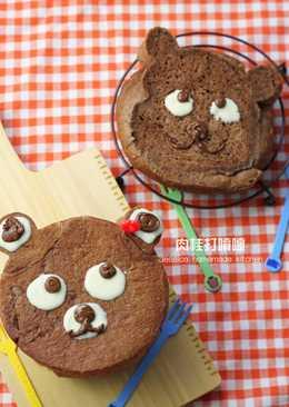 小熊巧克力造型吐司