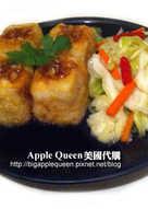 炸豆腐+自製泡菜~Deep fired tofu with homemade kimchi!