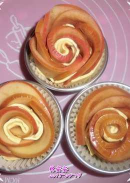 蜂蜜肉桂蘋果玫瑰花捲(蘋果花起酥捲)