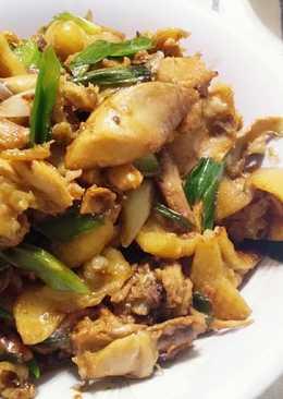 豆瓣甜麵醬炒雞肉