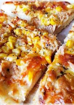 鮪魚玉米披薩★(低溫發酵無油無糖麵團)