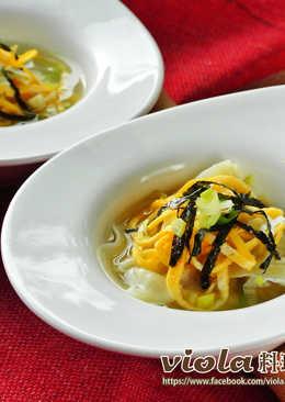 菜肉餛飩湯