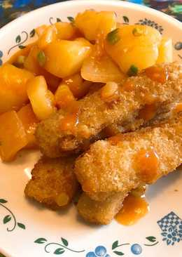 糖醋馬鈴薯佐魚條