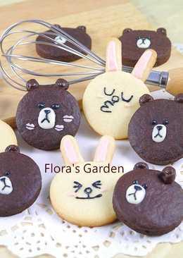 Line公仔萌翻了--熊大和兔兔餅乾