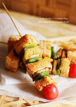 營養有趣的串燒吐司三明治