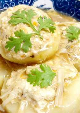 黃瓜鑲豆腐(素食)