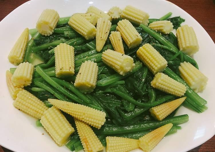 [減醣料理] 奶油菠菜玉米筍