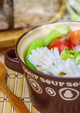 蕃茄鮮蝦花枝米粉湯