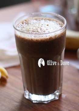 準備好的好滋味 ~~ 香蕉豆漿冰拿鐵 iced banana soy milk latte