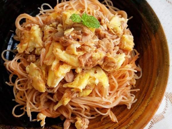 茄醬鮪魚炒米粉〞純米米粉版做法