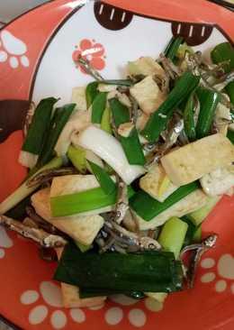 蔥段豆腐小魚乾
