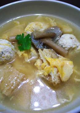 豆腐雞肉丸子味噌湯