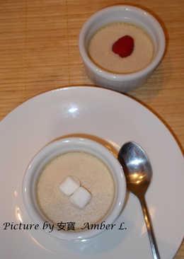 聖誕蛋酒布丁(布甸) Steamed Eggnog Custard Pudding