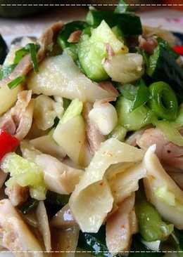 鹹水雞涼拌小黃瓜