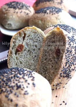 黑芝麻免揉麵包